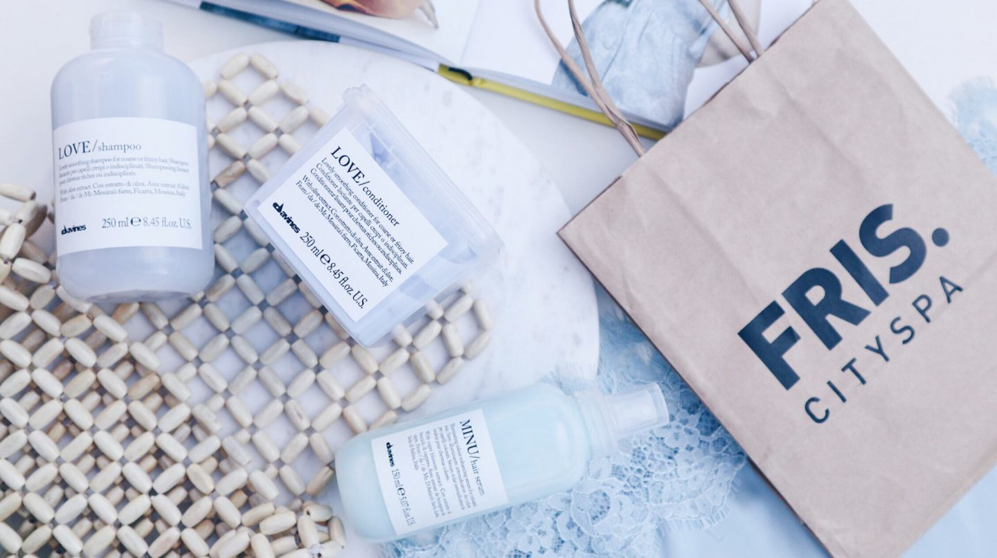 DAVINES – MINU hairserum en LOVE shampoo & conditioner.